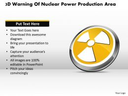 1114 3d Warning Of Nuclear Power Production Area Powerpoint Template