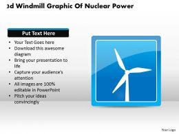 1114 3d Windmill Graphic Of Nuclear Power Powerpoint Template