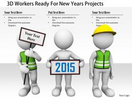 1114 3d Workers Ready For New Years Projects Image Graphics For Powerpoint