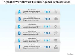 1114 Alphabet Workflow For Busines Agenda Representation Powerpoint Template