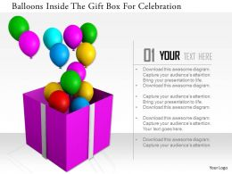 1114 Balloons Inside The Gift Box For Celebration Image Graphics For Powerpoint