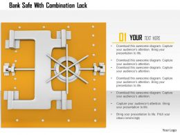1114 Bank Safe With Combination Lock Image Graphics For Powerpoint
