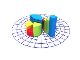 1114 Bar Graph And Pie Chart For Result Analysis Stock Photo