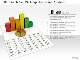 1114 Bar Graph And Pie Graph For Result Analysis Image Graphics For Powerpoint
