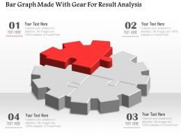 1114 Bar Graph Made With Gear For Result Analysis Powerpoint Template
