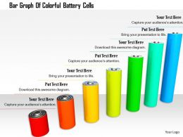 1114 Bar Graph Of Colorful Battery Cells Image Graphics For Powerpoint