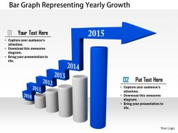 1114 Bar Graph Representing Yearly Growth Image Graphics For Powerpoint