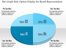 1114 Bar Graph Style Option Display For Result Representation Powerpoint Template