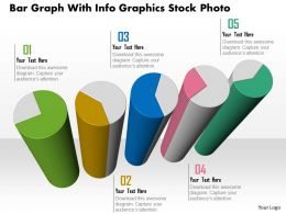 1114 Bar Graph With Infographics Presentation Template