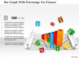 1114 Bar Graph With Percentage For Finance Image Graphic For Powerpoint