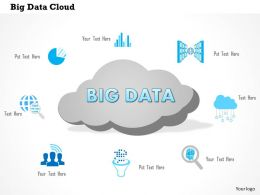 1114 Big Data Cloud With Analytic Icons Surrounding It Ppt Slide