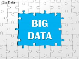 1114 Big Data Words Written In Puzzle Pieces Ppt Slide
