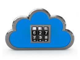 1114 Blue Cloud Icon With Combination Keys Stock Photo