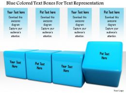 1114 Blue Colored Text Boxes For Text Representation Image Graphics For Powerpoint