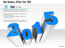 1114 Blue Numbers Of New Year 2015 Image Graphics For Powerpoint