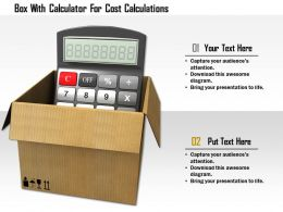1114 Box With Calculator For Cost Calculations Image Graphics For Powerpoint