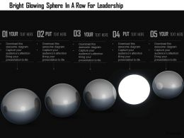 1114 Bright Glowing Sphere In A Row For Leadership Image Graphics For Powerpoint