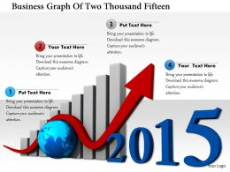 1114 Business Graph Of Two Thousand Fifteen Image Graphics For Powerpoint
