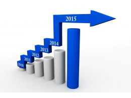 1114 Business Growth Display With Bar Graph Stock Photo