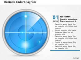 1114 Business Radar Diagram Powerpoint Presentation