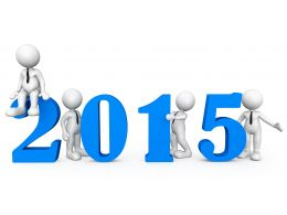 1114 Business Team With 2015 Year Text Stock Photo