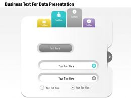 1114 Business Text For Data Presentation Presentation Template