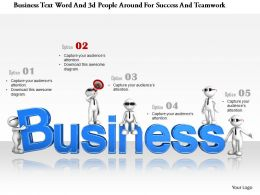 1114 Business Text Word And 3d People Around For Success And Teamwork Ppt Graphics Icons