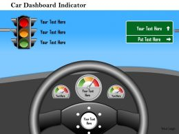1114 Car Dashboard Indicator Powerpoint Presentation