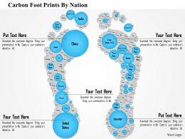 1114 Carbon Foot Prints By Nation Powerpoint Presentation