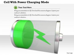 1114 Cell With Power Charging Mode Image Graphic For Powerpoint