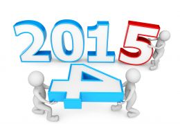 1114 Change In Year 2014 To 2015 For New Year Stock Photo