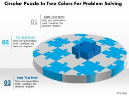 1114 Circular Puzzle In Two Colors For Problem Solving Powerpoint Template