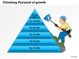 1114 Climbing Pyramid Of Growth Powerpoint Presentation