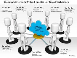 1114 Cloud And Network With 3d Peoples For Cloud Technology Ppt Graphics Icons