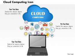 1114 Cloud Computing Icon Powerpoint Presentation