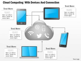 1114 Cloud Computing With Devices And Connection Powerpoint Template