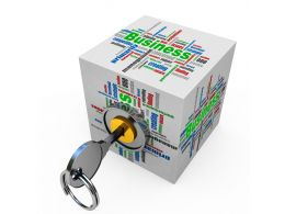 1114 Cloud Cube With Key Stock Photo