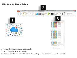 1114 Cloud Icon With Internet Options Powerpoint Template