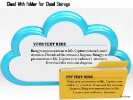 1114 Cloud With Folder For Cloud Storage Image Graphics For Powerpoint