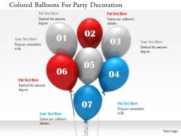 1114 Colored Balloons For Party Decoration Image Graphics For Powerpoint