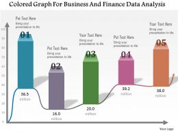 1114 Colored Graph For Business And Finance Data Analysis Powerpoint Template