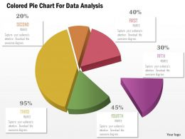 1114 Colored Pie Chart For Data Analysis Powerpoint Template