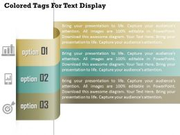1114 Colored Tags For Text Display Powerpoint Template