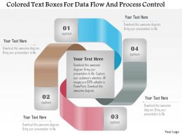 1114 Colored Text Boxes For Data Flow And Process Control PowerPoint Template