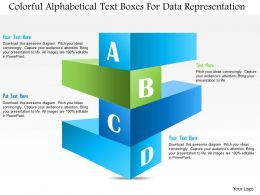 1114 Colorful Alphabetical Text Boxes For Data Representation Presentation Template