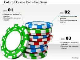 1114 Colorful Casino Coins For Game Image Graphic For Powerpoint