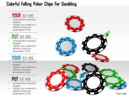1114 Colorful Falling Poker Chips For Gambling Image Graphics For Powerpoint