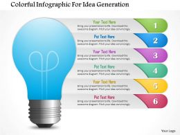 1114 Colorful Infographics For Idea Generation Powerpoint Template