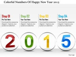 1114 Colorful Numbers Of Happy New Year 2015 Image Graphics For Powerpoint