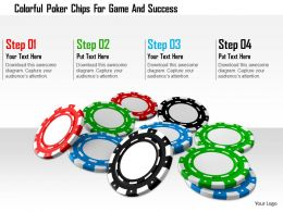 1114 Colorful Poker Chips For Game And Success Image Graphics For Powerpoint